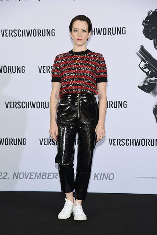 Claire Foy Brings A Little Edgy Cute To The Photo Call For The