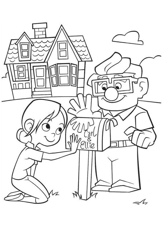 Up coloring pages for kids birthday