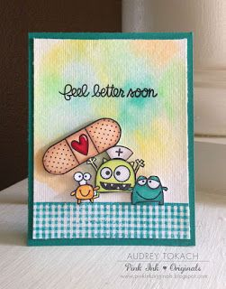 Feel Better Soon card by Audrey Tokach for Paper Smooches -  We Adore You, Debonair, and Healthy Vibes stamp sets: