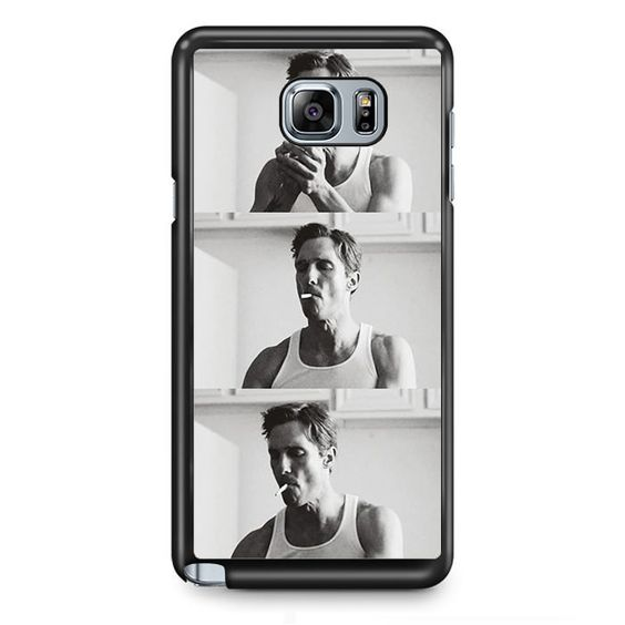 Smooking Rustin Cohle True Detective TATUM-9736 Samsung Phonecase Cover Samsung Galaxy Note 2 Note 3 Note 4 Note 5 Note Edge