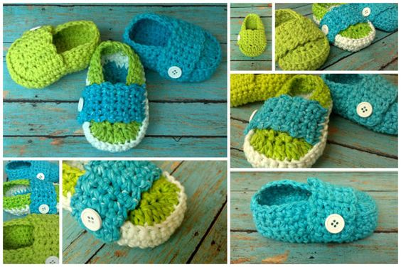 Crochet Baby Beach Day Loafers by LoveyBuggies on Etsy, $20.00