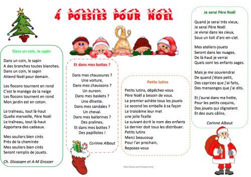 Poésies Noël et jour de l'an - Le jardin d'Alysse