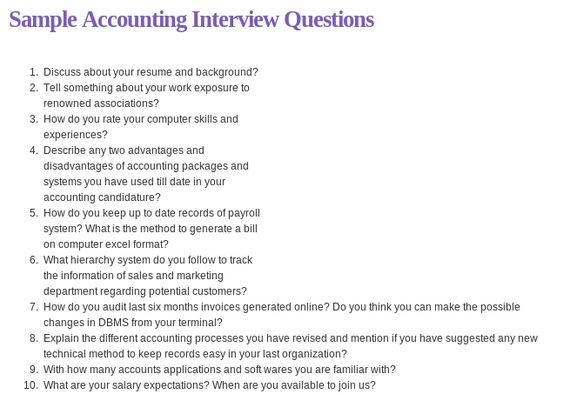 Related materials 150 accounting interview questions Ebook - accounting interview questions
