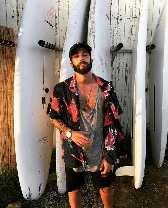 Carlos de Lucas @edakpinarr instagram: edakpinarr choppersmc.tumblr.com #carlosdelucas #beard #summer #boy #fashion
