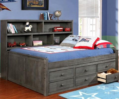 Full Sideways Bookcase Bed Rooms4kids Bookcase Bed Captains Bed Furniture