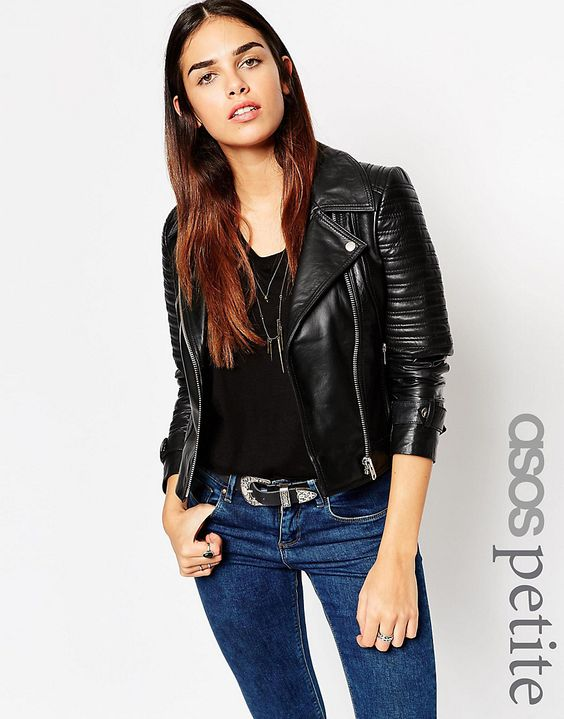 Petite leather jacket – Modern fashion jacket photo blog