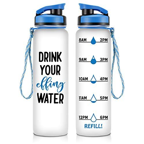 Leado 32oz Motivational Water Bottle With Hourly Time Tracker Tritan Plastic Bpa Free Workout Sports Fitness Hours Marked Bottle With Flip Top Lid Drink M Motivational Water Bottle Water Bottle Bottle