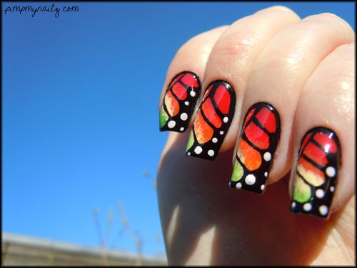 Butterfly inspired nails