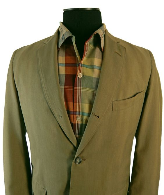 1950s Palm Beach Sack Cut Sport Coat Narrow Lapel Wash and Wear