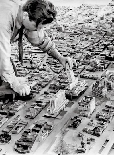 Model of Downtown Los Angeles 1940: 1940 Displayed, 1940 S, Vintage Los Angeles, Downtown Los Angeles, 1940 Model, Downtown La, 1940 Wpa, 1940 Photo