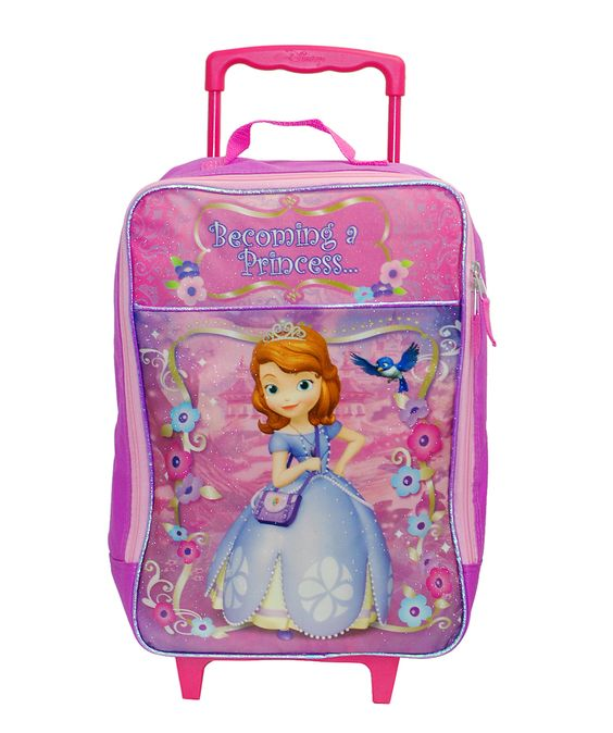 Disney Sofia The First Girls Rolling Luggage Suite Case Travel Bag ...