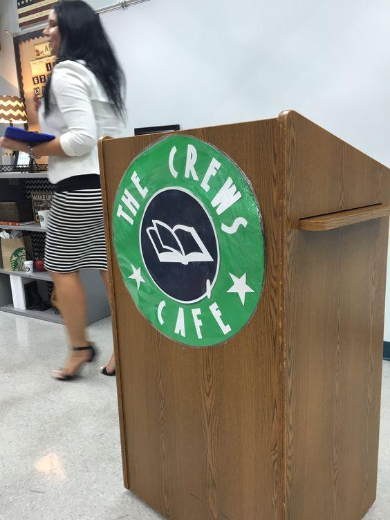 Coffeehouse themed classroom