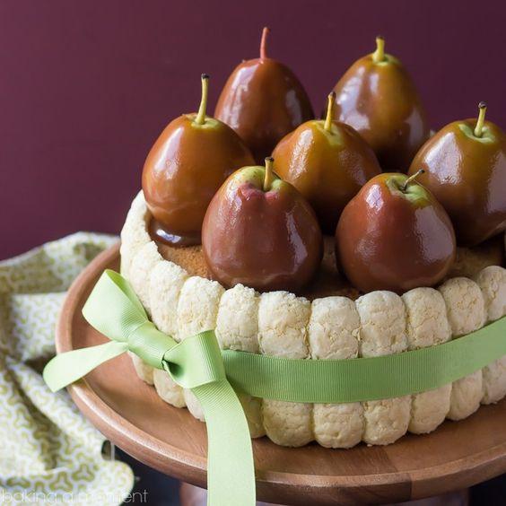 Caramel Pear Charlotte - Baking A Moment