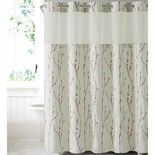 Ebay Sponsored Beige Hookless Shower Curtain Ringless Bathtub