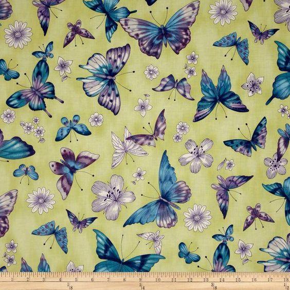 Pen & Ink Butterflies Garden Citrine