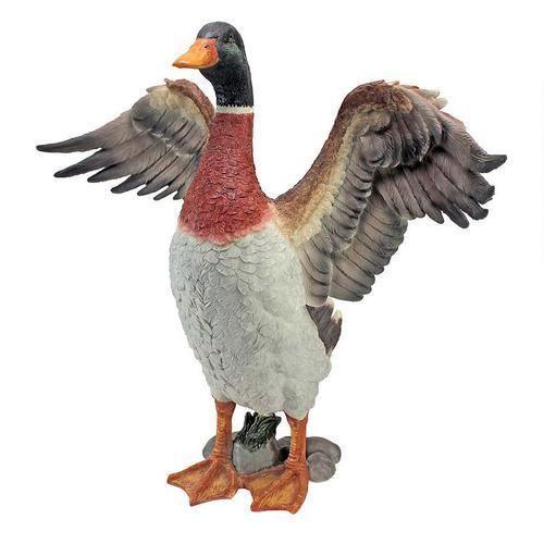 Wild Male Mallard Duck Sculpture Home Yard & Garden Statue Bird Products & Gifts