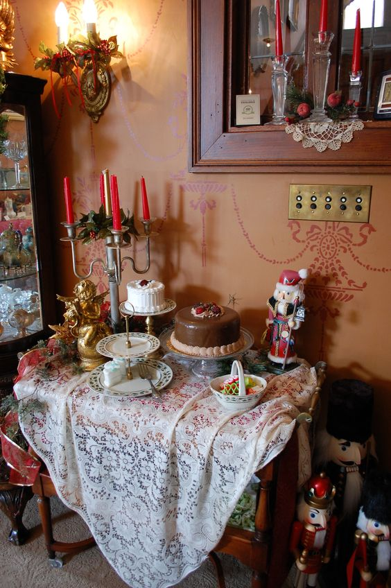 Victorian Tea at the Schuster Mansion during the Christmas Holiday