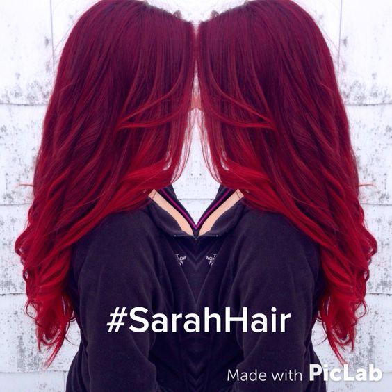 Red, ombré. Mermaid hair! Balayage pravana vivids: