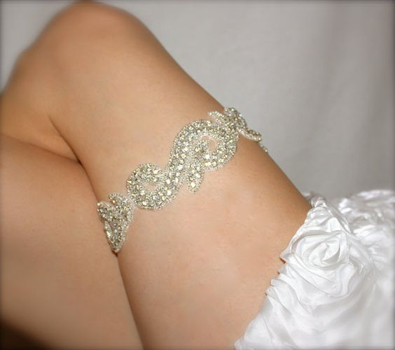 Rhinestone Glass Bead Garter by SnickerdoodleClothes on Etsy, $45.00