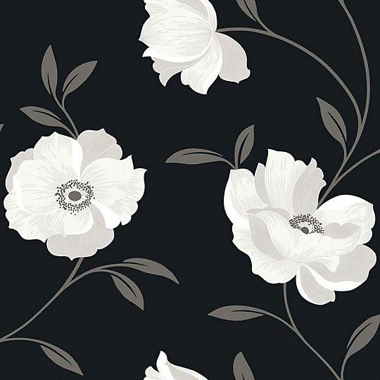 Arthouse Opera Charleston Black White Floral Wallpaper Floral Wallpaper Tree Nature Wallpaper Home Art