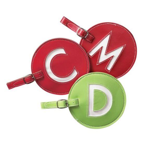 Love these Initial Luggage Tags. They are a great way for the ...
