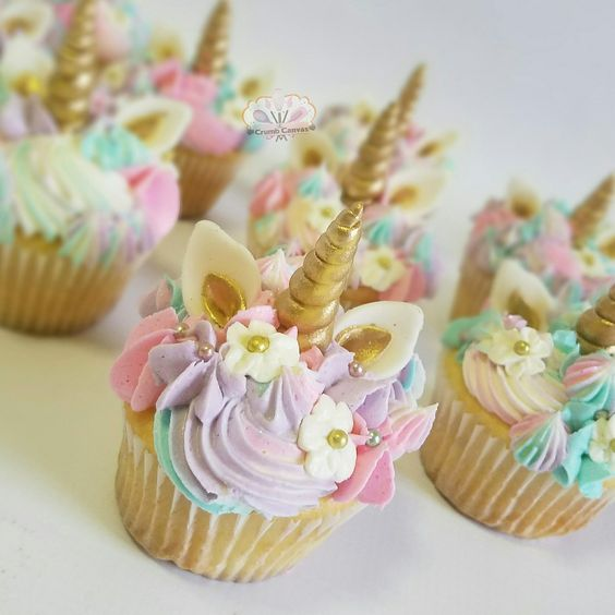 adorable trending unicorn cupcakes by The Crumb Canvas: