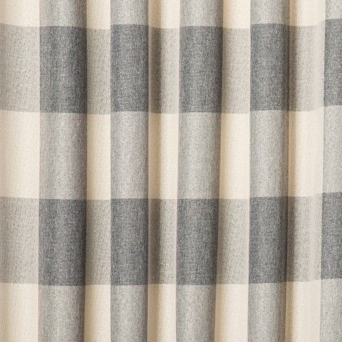 Larkhall Plaid Blackout Curtain Panel Eclipse Panel Curtains