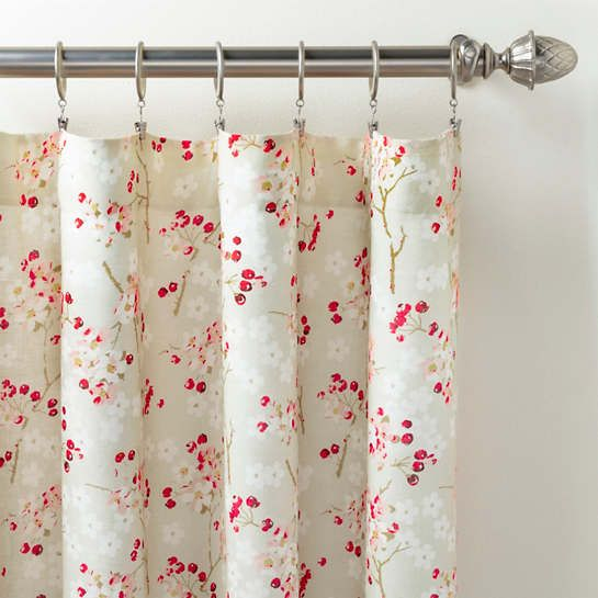 Cherry Blossom Curtain Panel The Outlet In 2020 Panel Curtains Curtains Printed Linen Fabric