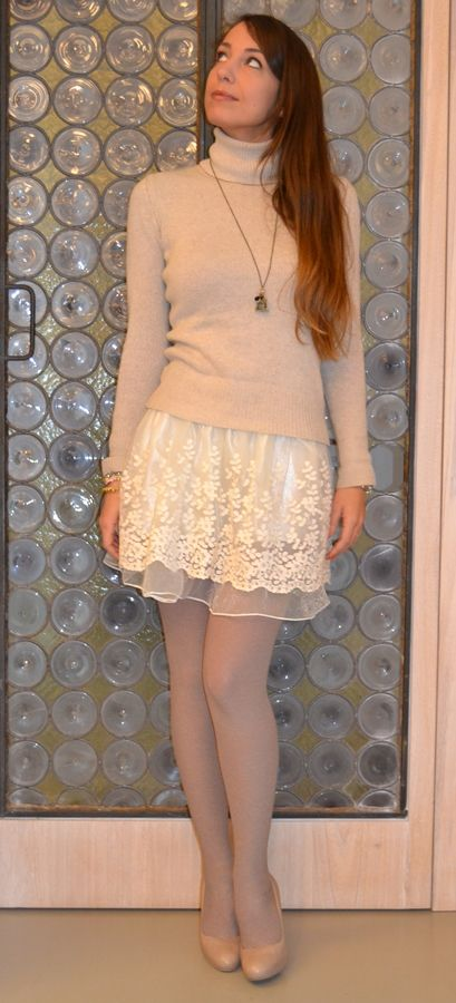 Retro Lolita Skater Skirt with Lace Details