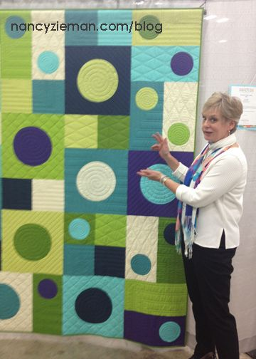 So cool! Love how easy it is to create the circle appliques! Nancy-Zieman-I-See-Spots-QuiltCon: