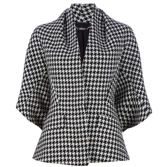ALEXANDER MCQUEEN ARCHIVE houndstooth jacket found on Polyvore