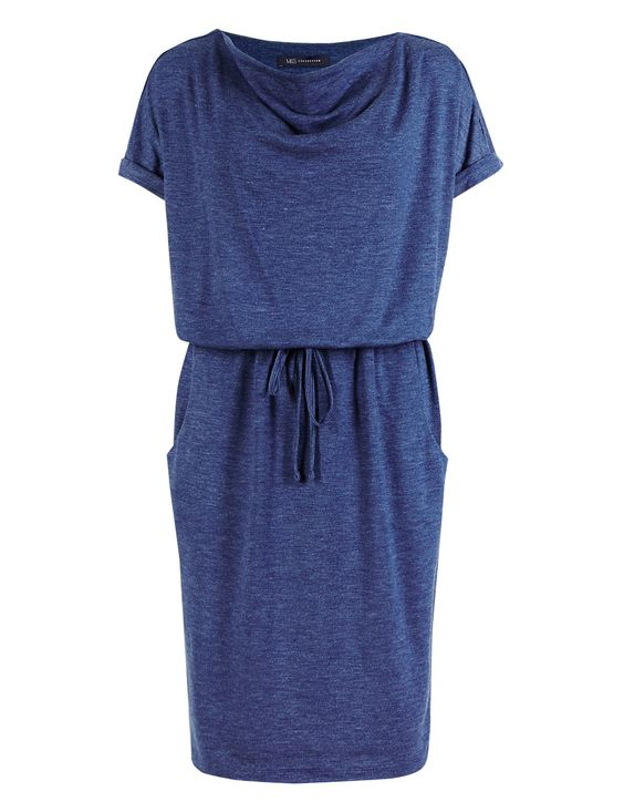 Cowl Neck Tunic Dress