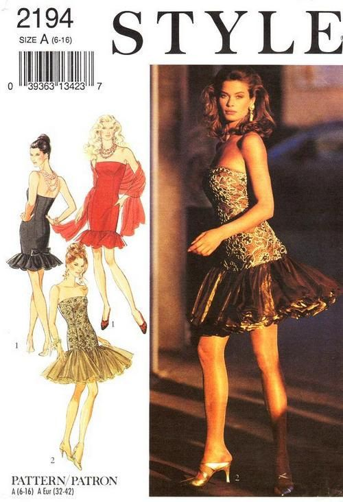 Style Dress Pattern 2194 - Misses&-39- Evening Dress and Stole - SZ 6 ...