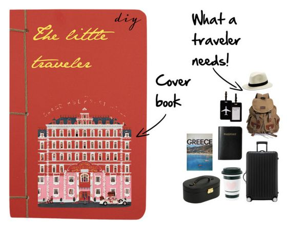 """""""The little traveler (diy book cover)"""" by vassiascissors ❤ liked on Polyvore featuring art and diybookcover"""