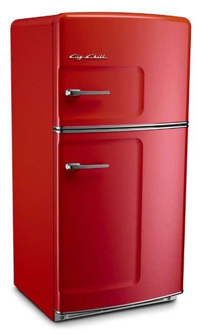 Dream fridge. 10 places to buy one. This Big Chill Red Cherry is the perfect addition to any contemporary kitchen. #BigChill #RetroCool