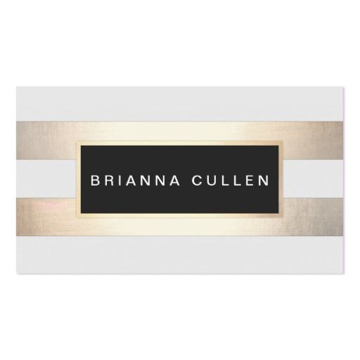 Chic Stripes FAUX Gold Foil and Black Appointment Business Card
