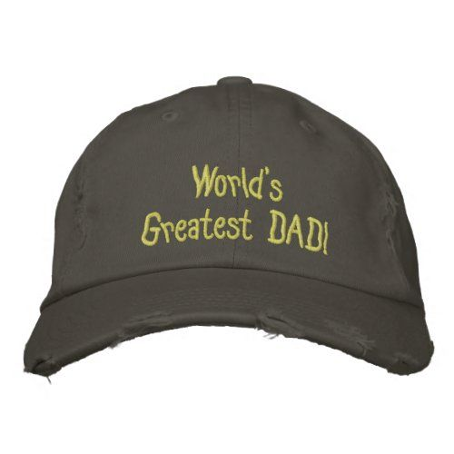 Design Your Own Fathers Day Baseball Destroyed Cap Zazzle Com In 2020 Embroidered Hats Hats Embroidered Baseball Caps