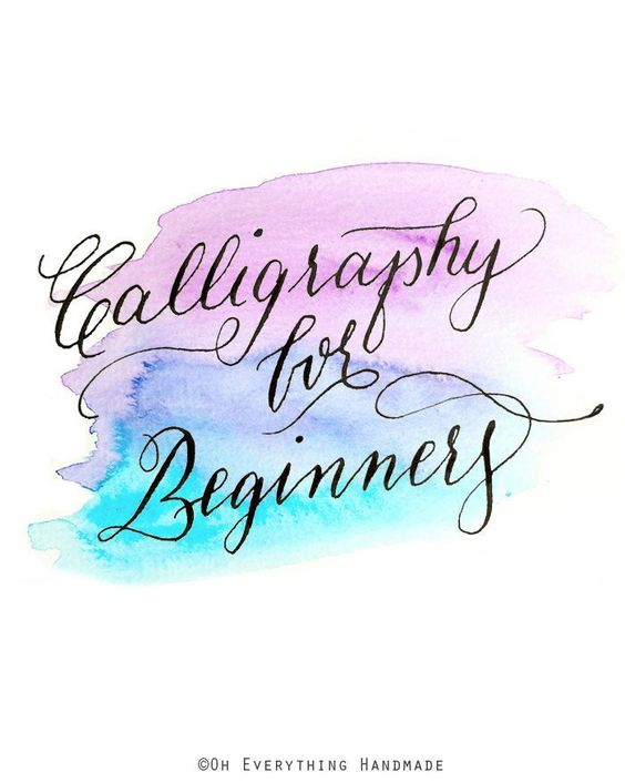 Calligraphy for beginners turquoise texts and