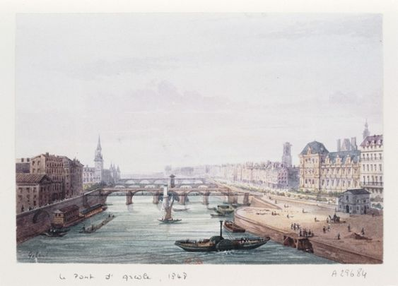 PontdArcole1848 - Pont d'Arcole - Wikipedia, the free encyclopedia