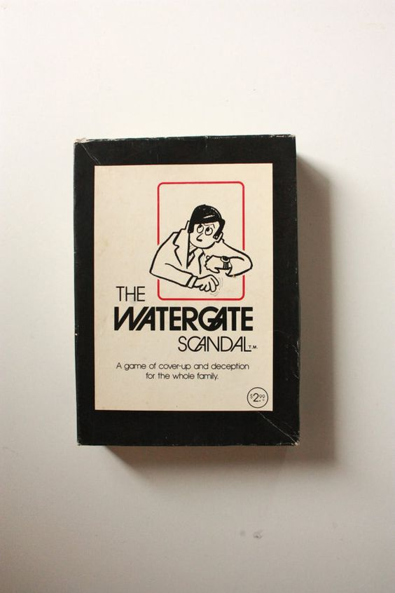 Watergate Scandal 1973 Card Game by TriBecasVintage on Etsy, $9.95