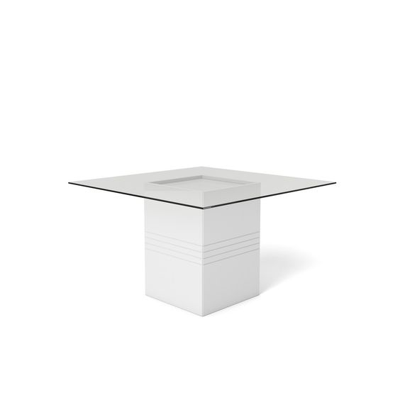 Manhattan Comfort Perry 1.8 - 55.12 in Sleek Tempered Glass Table Top