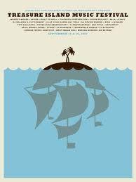 Treasure Island music festival poster