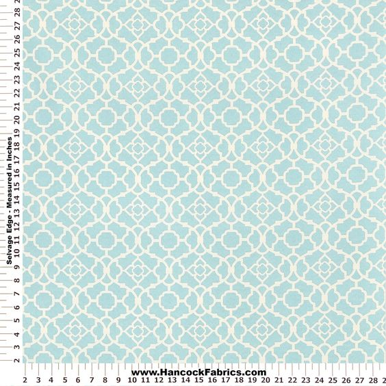 Waverly Sun and Shade Lagoon Lovely Lattice Home Décor Fabric - Designer Express