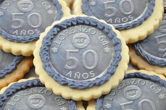 Galletas monedas Lorenzo, cookies, papel de azucar