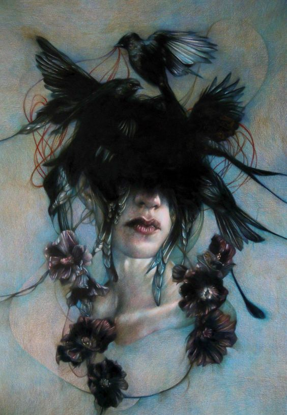 Coloured pencil work of Marco Mazzoni.  Ethereal!