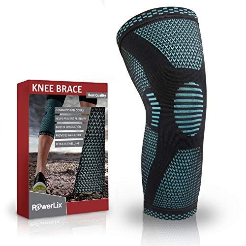 Leg Support for Women and Men Arthritis Pain Meniscus Tear A Pair of Knee Braces Compression Knee Sleeves for Knee Pain Runners Running Working Out Weightlifting Lifting
