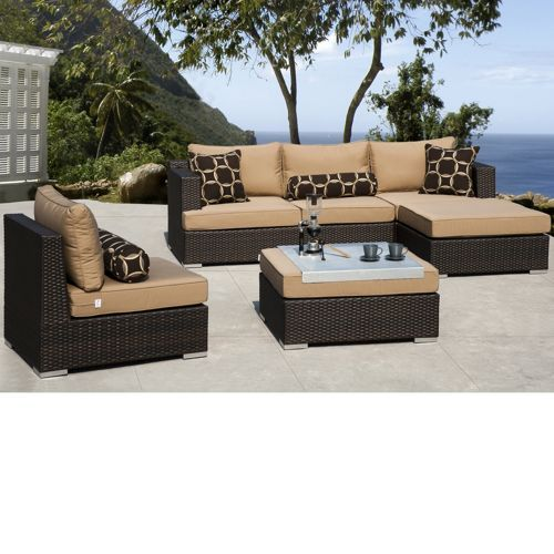 Niko 6 Piece Patio Deep Seating Modular Sectional By Sirio