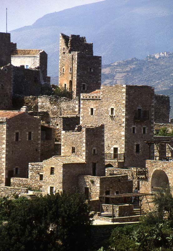 Mani Towers, Mani, Lakonia, Greece Copyright: Phil Simmonds