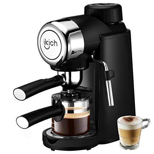 Amazon Com Espresso Machine Ikich 3 5bar 4cup Espresso Coffee Maker With Spoon Cappuccino Machine With Espresso Machine Cappuccino Machine Diy Coffee Drinks Espresso machine with milk frother