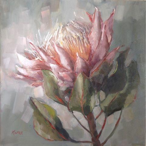 Karen S Canvas Repin From Karenbumsart Blogspot Com Flower Painting Canvas Protea Art Art